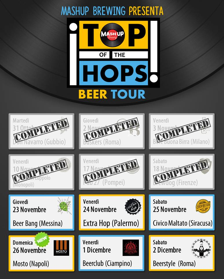 MashUp Brewing Top of the Hops Tour 02/12/2017